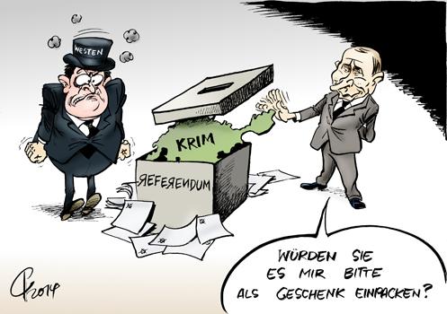 Ukraine >> Paolo Calleri | Karikaturist, Freier Grafiker, Illustrator | Politische Karikatur: Krim ...