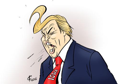 ... Donald Trump; Zweiter; Iowa; Bundesstaat; Populismus; Unternehmer